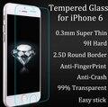Prima de Cristal Templado de Cine Para el iphone 6 6 s Hoja de Capa De Vidrio Cubierta 0.3 MM 9 H 2.5D Protector de pantalla + Caja + Kits de Limpieza