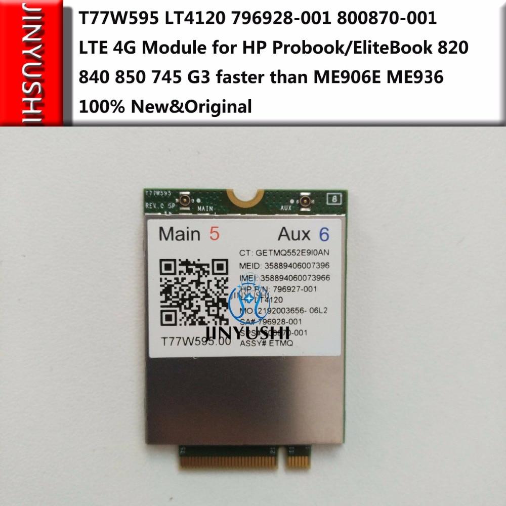 T77W595 LT4120 LT4120  Snapdragon  X5  LTE 4G Module For HP Probook/EliteBook 820 840 850 745 G3 Faster Than ME906E ME936
