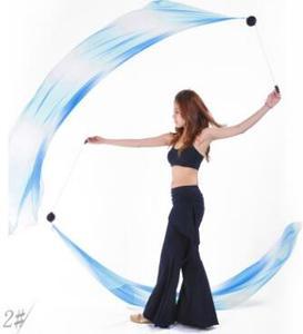 Image 3 - 2 قطعة الحجاب 2 قطعة POI سلسلة الكرة 2.0 متر * 0.7 متر متعدد الألوان الرقص الحجاب ملابس رقص البطن الإكسسوارات شحن مجاني