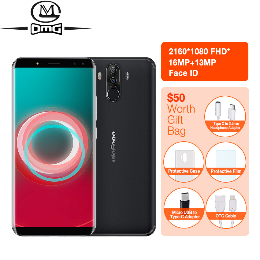 """Ulefone Power 3s 6.0""""18:9 Full Screen Mobile Phone 6350mAh Octa Core Android 7.1 4GB+64GB 16MP 4 Cams Face ID 4G Smartphone"""