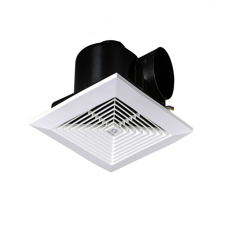 Exhaust fan Ventilator Exhaust fan for kitchen and toilet Suction top type pipe exhaust fan integrated ceiling 300*300mm Комедон