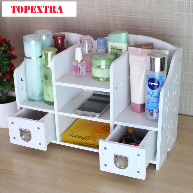 Diy office table Plywood Topextra Xl Size Thicken Pvc Diy Organizer Box Bathroom Office Table Organizer Cosmetic Storage Box Organizer No Paint Simplified Building Topextra Xl Size Thicken Pvc Diy Organizer Box Bathroom Office Table