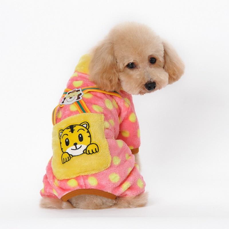 ヾ ノfree Shipping Pet Winter Coat Leopard Print Dog Clothes
