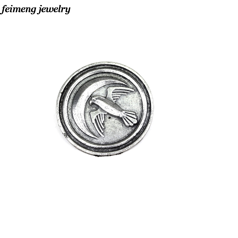 New Arrival Vintage Retro Song of Ice and Fire Game of Thrones Bird Brooch Coin brooch Movie Jewelry
