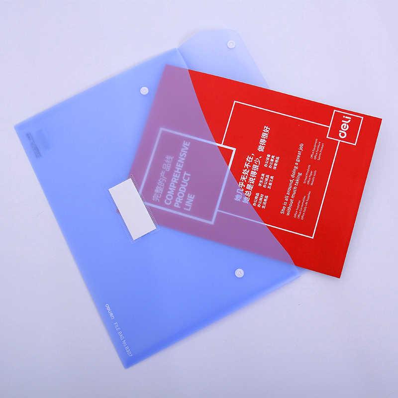 DELI файл сумка студенческий бизнес-Документ сумка файл для документов студенческий дисплей книга эластичная застежка папка школьные офисные поставки