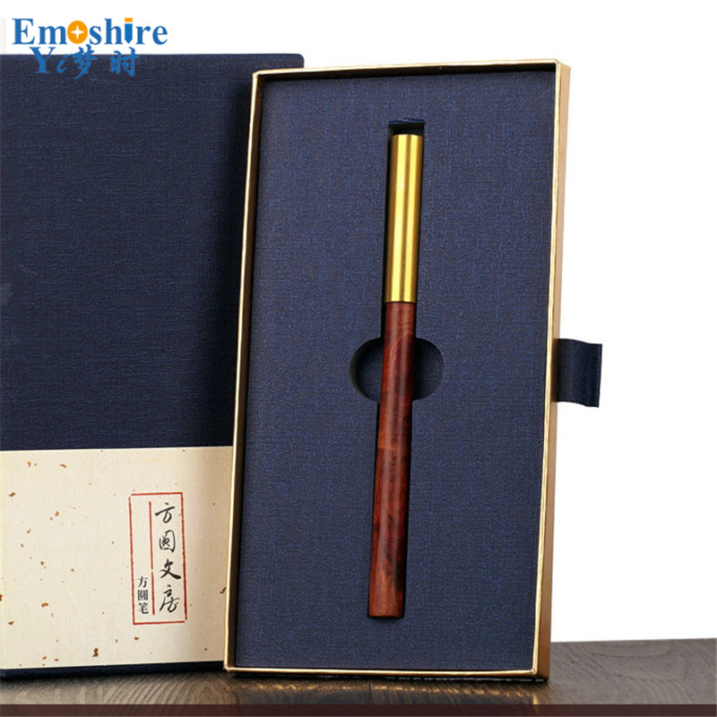 High-end Custom Signature Pen Roller Ball Pen Creative Brass Ballpoint Pen Office Stationery for Writing Supplies P359 high quality silk 35mm 200m blank washing mark high end laundering tags for garment provide custom order