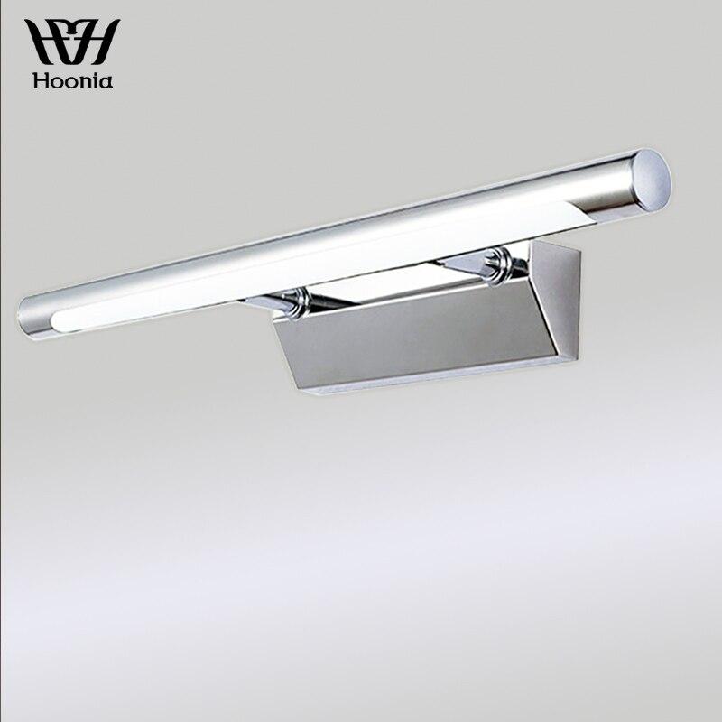 Free Shipping AC110V 220V 40CM Bathroom Mirror Light 7W LED Wall Lights Stainless Steel Wall Lamp