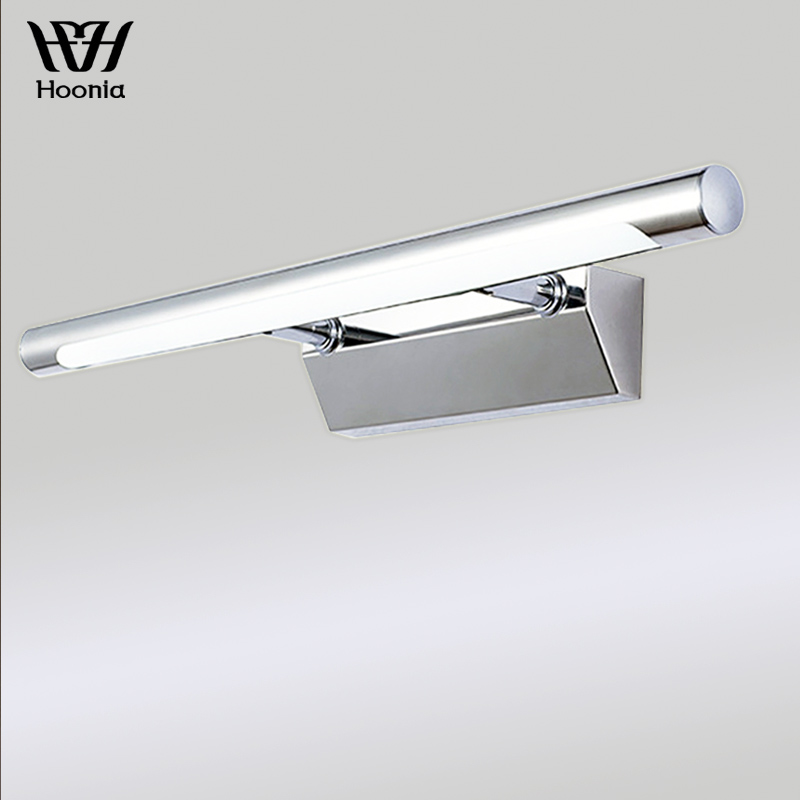 Free Shipping AC110V/220V 40CM Bathroom Mirror Light 7W LED Wall Lights Stainless Steel Wall Lamp With Antifoging Ability-in LED Indoor Wall Lamps from Lights & Lighting    1