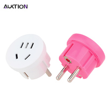 New AUKTION US AU To EU Plug 10A Universal Euro(Europe) Travel Wall Power Plug Charger Outlet Adapter Converter Round Pin Socket