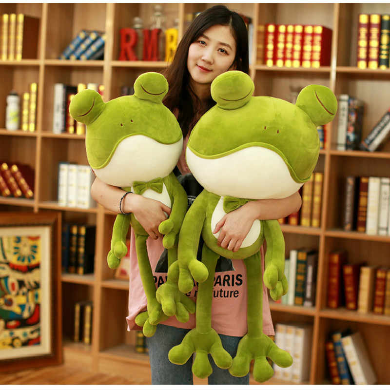 Cute Plush Frog Toys Soft Stuffed Down Cotton Frog Prince Toys Cartoon Plush Animals Children's Gifts