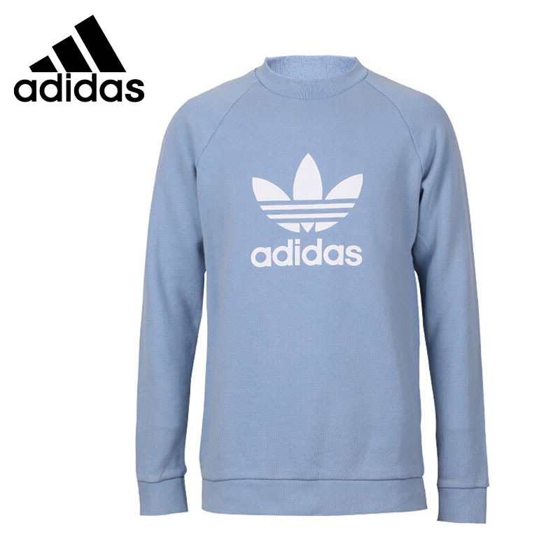 Original New Arrival Official Adidas TREFOIL CREW Men's Breathable Pullover Comfortable Sportswear Good Quality CV8643 original new arrival official adidas originals women s breathable pullover hooded leisure sportswear good quality cv9437