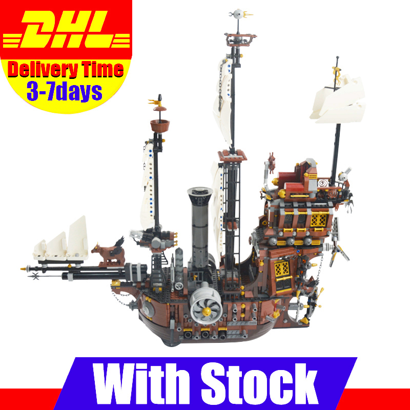 LEPIN 16002 Modular Pirate Ship Metal Beard's Sea Cow Building Block Set Bricks Kits Set Toys Compatible 70810 new bricks 22001 pirate ship imperial warships model building kits block briks toys gift 1717pcs compatible 10210