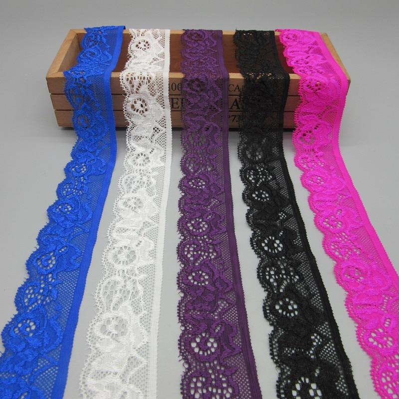 Comercio al por mayor 10 yardas de hermosa cinta de encaje elástico - Artes, artesanía y costura