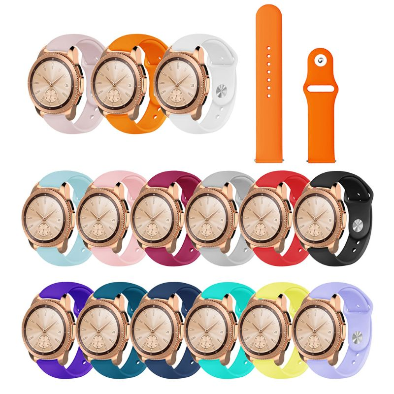 Silicone Watchband Strap Replacement For Samsung Active R500/Samsung Galaxy Watch R810 42MM/Samsung Gear Sport R600/Samsung R720