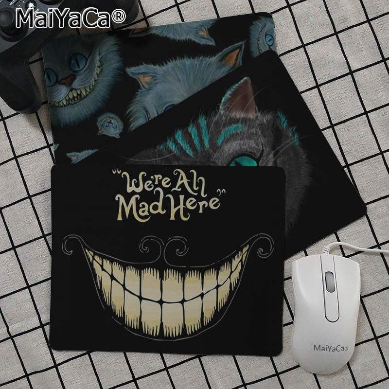 MaiYaCa Hot Sales Alice In Wonderland Cat Face Customized laptop Gaming mouse pad Top Selling Wholesale Pad