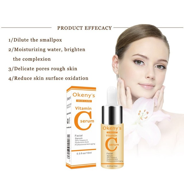 Vitamin C Serum VC Removing Dark Spots Freckle Speckle Fade Ageless Skin Care Whitening Face Anti Winkles Essence Beauty Health & Beauty