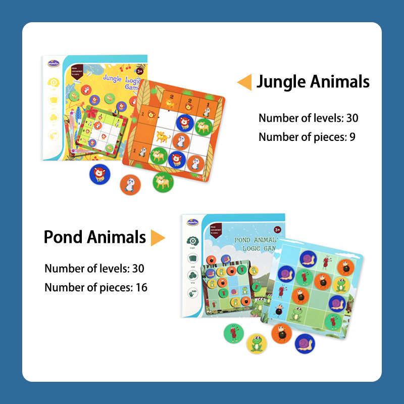 Jungle Animale Gioco di Logica Giocattoli Educativi Giochi di Puzzle Tangram Puzzle Di Sviluppare capacità di Ragionamento Giocattoli Gioco Da Tavolo Per I Bambini