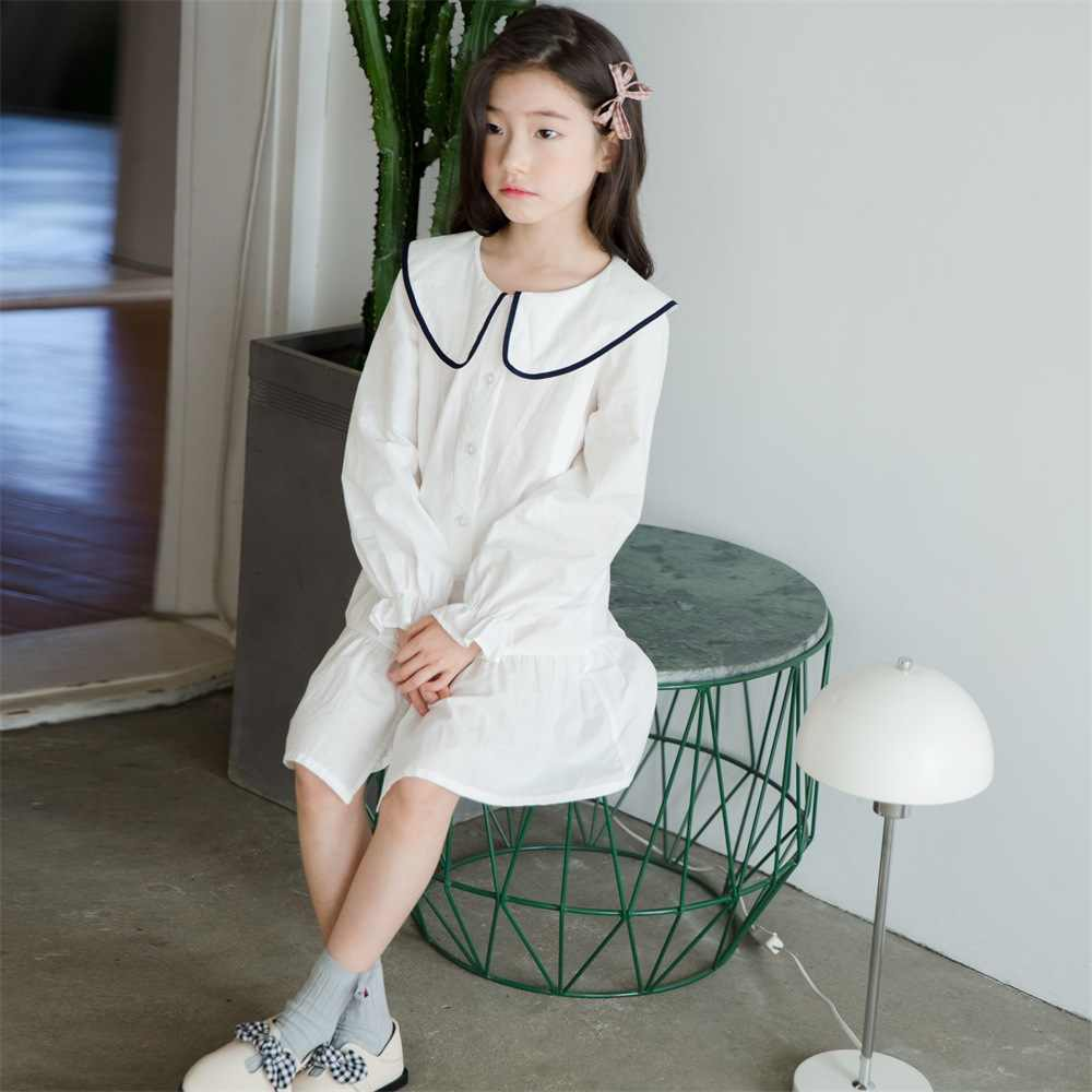 5d4c96bc893f3e ... 2019 Spring New Leisure Preppy Style Cotton Korean Girls Dresses Baby  Princess Dress Teenage Clothes Kids ...