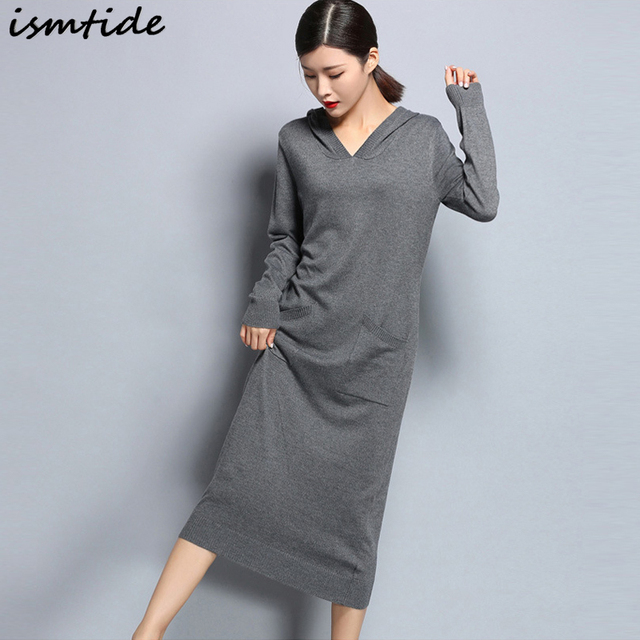 Cashmere Sweaters Dress Casual Women Knitted Dresses Warm Winter ...