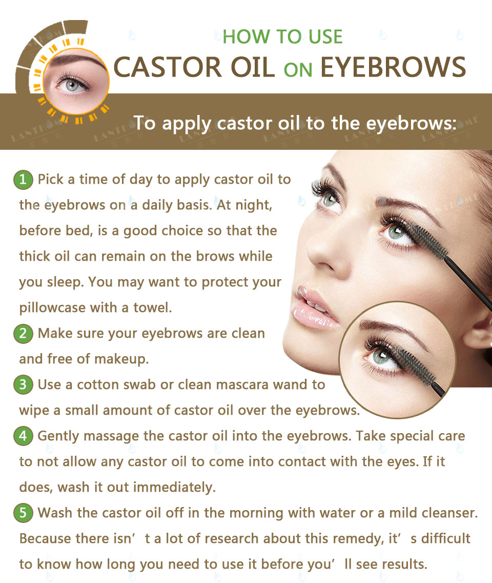 Castor Oil for Hair Growth Serum Eyelash Growth Lifting Eyelashes Thick Eyebrow Growth Enhance Eye Lashes Serum Mascara www.prettybuyers.com