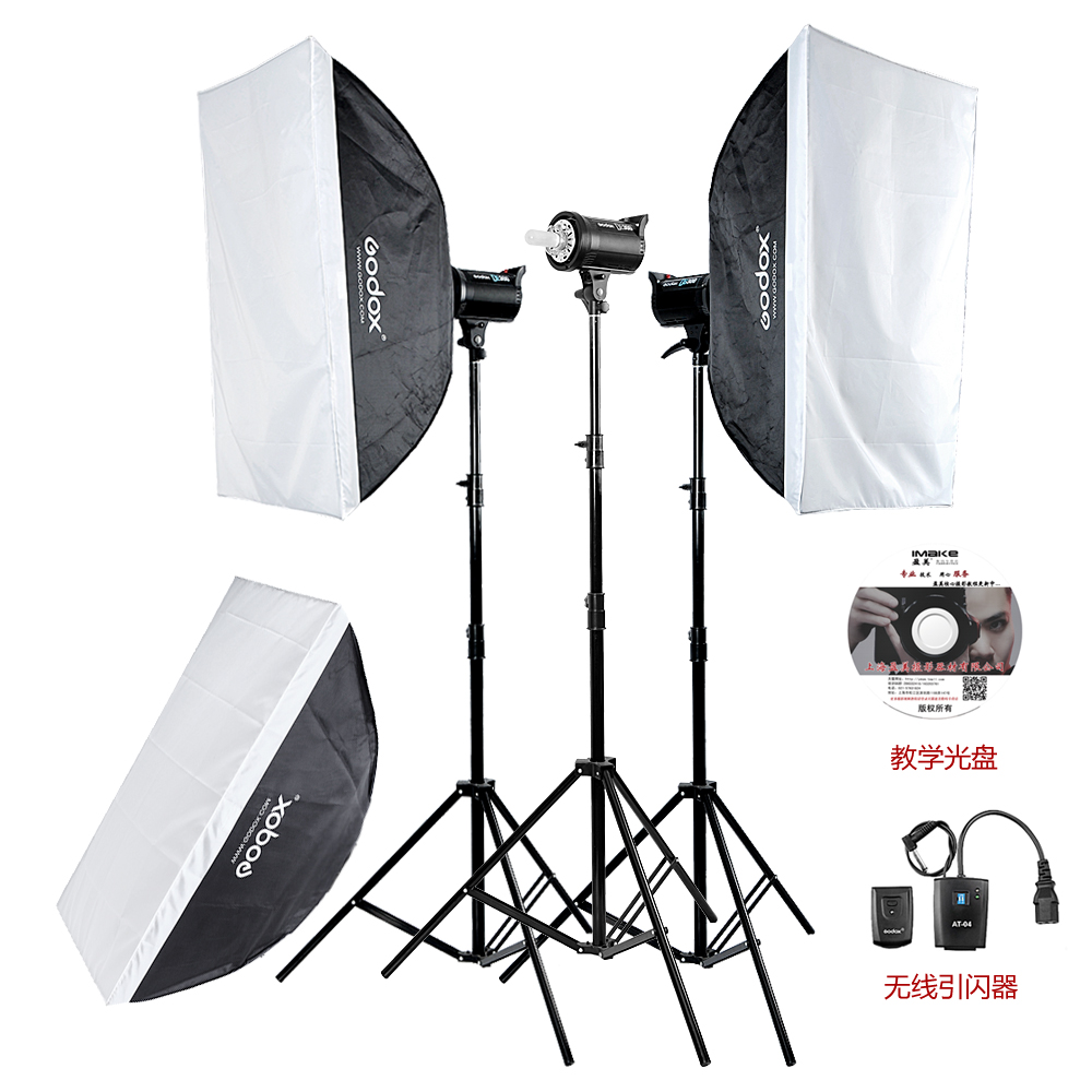 godox 300w studio flash photography light set photographic equipment soft light