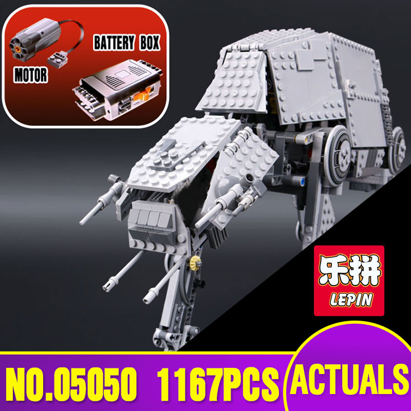 NEW Lepin 05050 Star Series War AT the AT Robot Electric Remote Control Building Blocks Toys 1137pcs Compatible with 10178 new military series world war ii germany panzer iv tank building brick block toys compatible with lepin