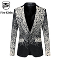 Kirin fogo Homens Blazer 2017 Único Blazers Homens de Luxo Da Marca 5XL 6xl plus size mens blazer floral vintage casual paletó q19