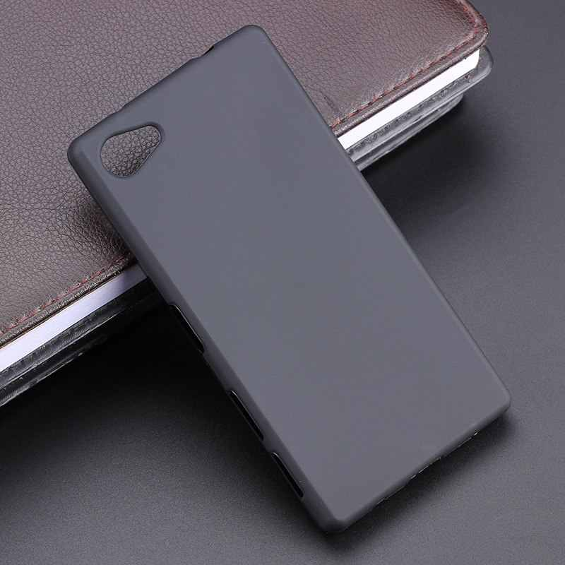 Black Gel TPU Slim Soft Anti Skiding Silicone Case Back Cover For Sony Xperia Z5 Compact 4.6 Inch E5803 E5823 / Xperia Z5 Mini
