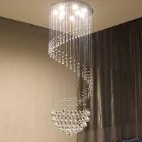 Dubbele trap hanglamp kristallen kroonluchter eenvoudige Europese stijl woonkamer lichten SJ17 ya74-in Hanglampen van Licht & verlichting op