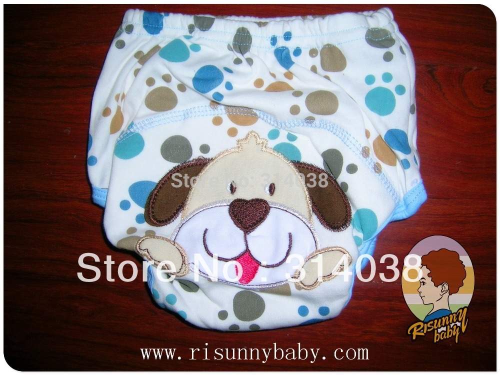 Big Size Arrived Now  Free Shiping   Big Size  6-54M   10 Pieces/lot  7 Desigen  Water Proof  Embroidered Baby Training Pants