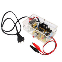 Elecrow LM317 Adjustable Voltage Power Supply Board Kit With Case 220V PCB Board Electronic DIY Kits