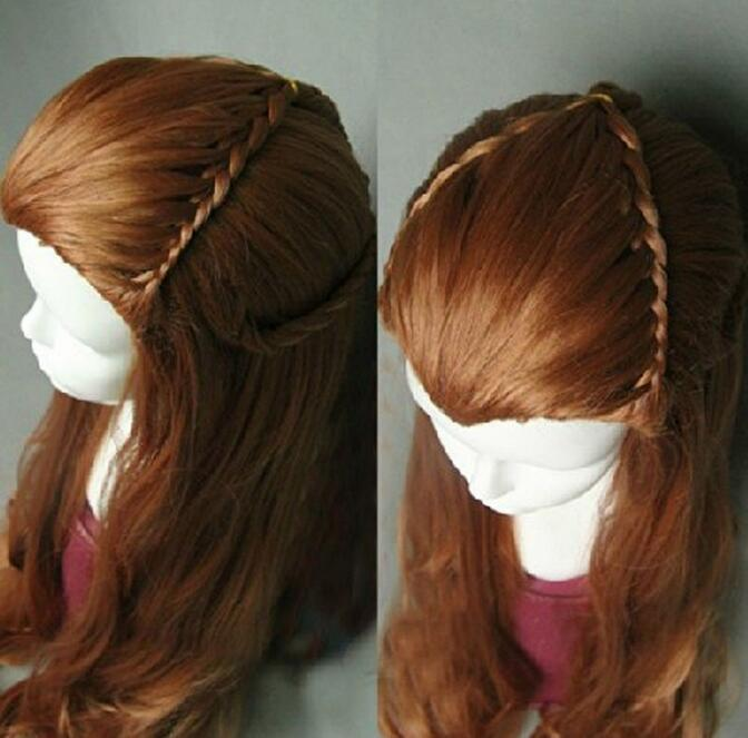 Jewelry Wig The Hobbit / The Lord of the Rings Elf Tauriel Cosplay Wig Golden Brown Hair  Free Shipping(China)