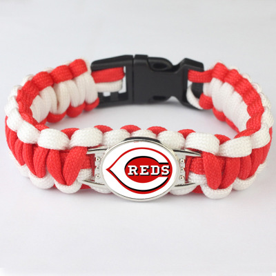 Sport Baseball Cincinnati Reds Jewelry Bracelet America Sport Team Charm Bangle Jewelry Umbrella Braided For Fans G