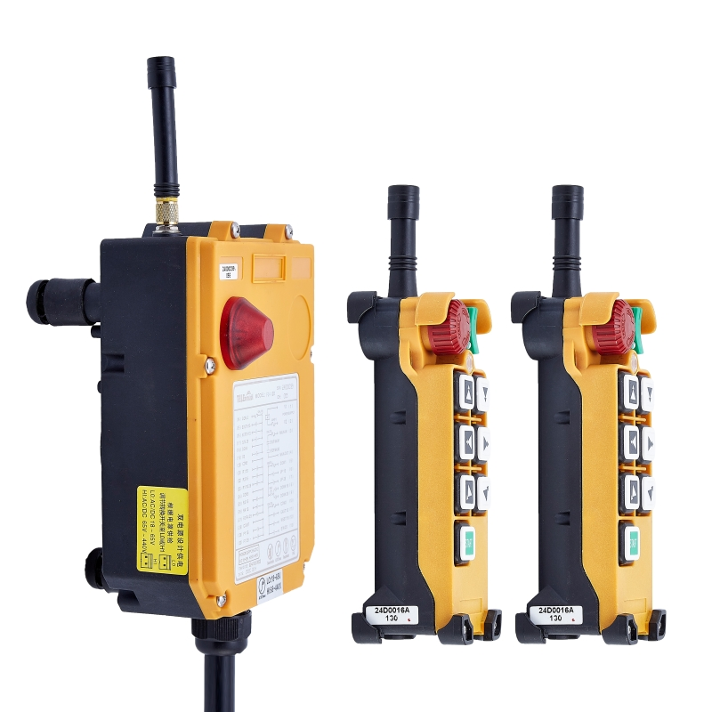 AC DC Wireless Crane Remote Control F24-6D Industrial Remote Control Hoist Crane Push Button Switch 2 Transmitters + 1 Receiver