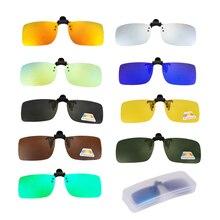 Поляризованные солнцезащитные очки с зажимом для рыбалки, близорукость, рыболовные очки-зажимы, спортивные очки для вождения, очки ночного видения, клипсы с коробкой