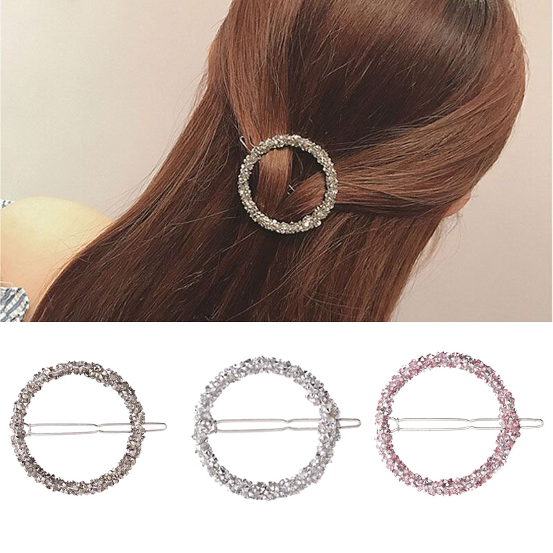 M MISM 2019 Round Elegant Luxury Rhinestone Charm Hair Accessories Twinkling Hair Clip Bridal Crystal Hairpin Hairwear -in Women's Hair Accessories from Apparel Accessories on Aliexpress.com | Alibaba Group