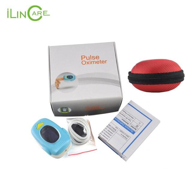Deluxe Fingertip Pulse Oximeter pediatric oximetro de pulso de dedo finger pulsometer child pulsioximetrowith lanyard carry bag