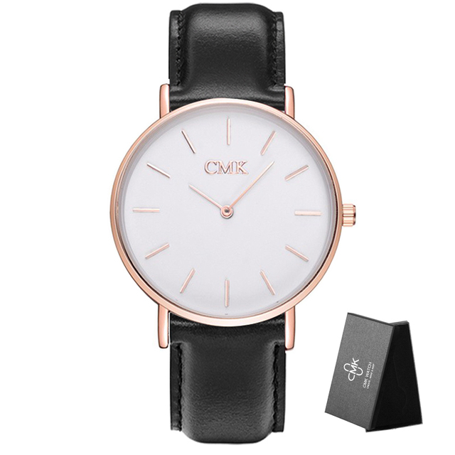 67c02623a74c Brand Clock Fashion Women Watches Casual Couple Styles 6 Color Wristwatches  Leather strap Sports Quartz Men Watch With Gift Box