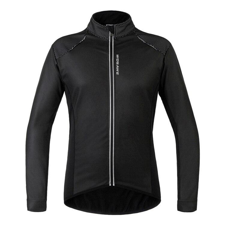 Nouveau hiver thermique polaire Jersey coupe-vent veste réfléchissante à manches longues cyclisme vélo Sportswear cyclisme vêtements