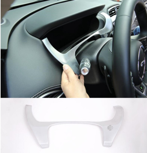 Chrome ABS Dashboard Frame Decoration Cover Trim For Jaguar F-Pace X761 2016 For LHD Car Styling
