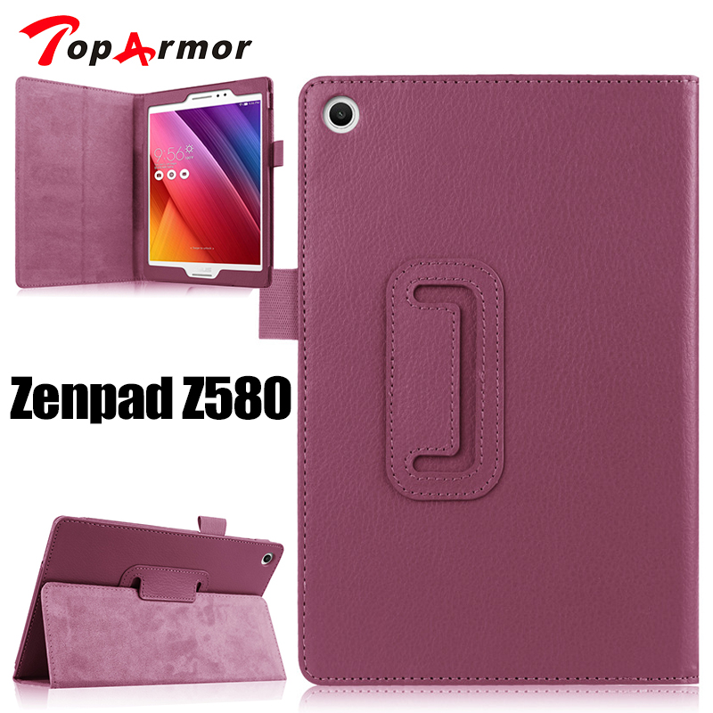 TopArmor case For ASUS Z580 Case 2 Folding Flip PU Leather Case Stand Cover For ASUS Zenpad S 8.0 Z580CA Z580C Tab Tablet Cover cover case for asus zenpad s z580 c 8 smart protective cover pu leather zenpad s 8 0 z580ca z580c 8 inch tablet pc stand cases