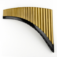 C Key 25 Pipes Pan Flute Gold Color Music Instruments Chinese Good Quality Handmade Woodwind Instrument Pan Pipes