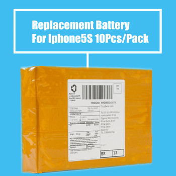 New Arrival 10Pcs/Pack 1560mah Replacement Battery For Iphone5S High Quality