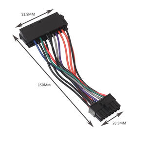 Cable Power-Supply 14-Pin-Adapter-Cable 24-Pin Lenovo Dell Cord 15CM ATX for Ibm/Dell/Q77/..