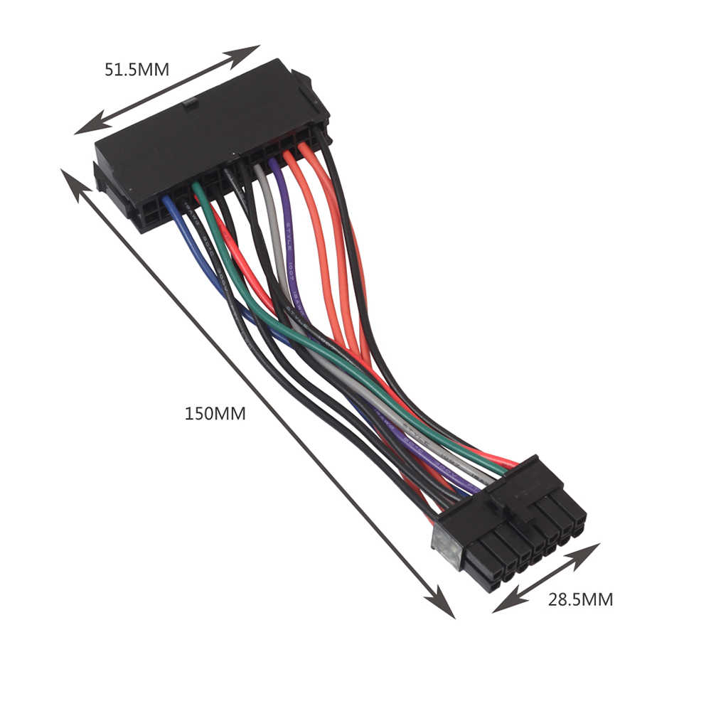 15CM przewód zasilający 18AWG drutu ATX 24 Pin do 14 Pin Adapter kabel do Lenovo IBM Dell Q77 B75 A75 Q75 płyta główna