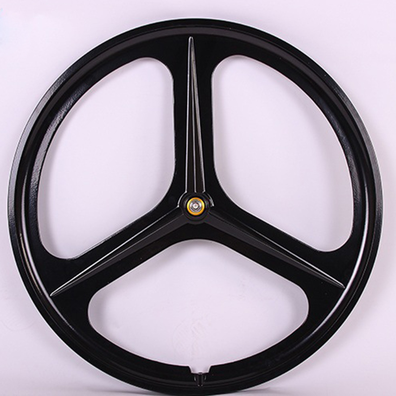 Magnesium Alloy 700C wheel bike 3 spokes fixie Bicycle Mag TRI front rear wheel Mag Alloy Fixed gear bike wheels Rims 1pcs magnesium alloy single speed fixed gear bike wheels 700c road racing venues inch wheel bicycle accessories