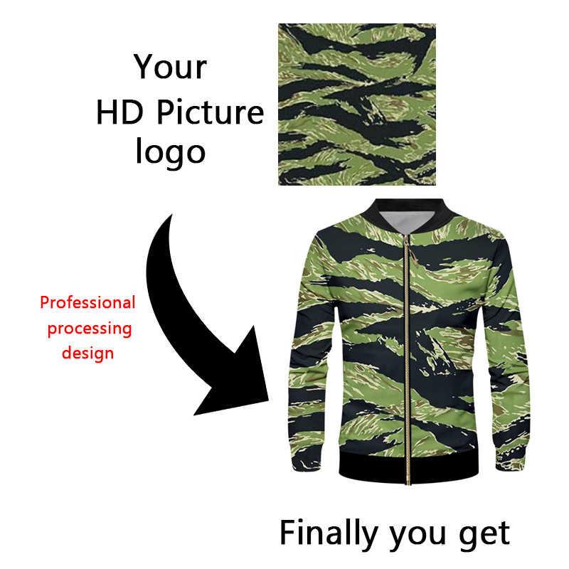 OGKB kurtka na zamówienie wiatrówka ręcznie wykonany nadruk twój własny projekt LOGO zdjęcia 3D płaszcz z suwakiem kurtki odzież wierzchnia Drop Shipper hurtownik