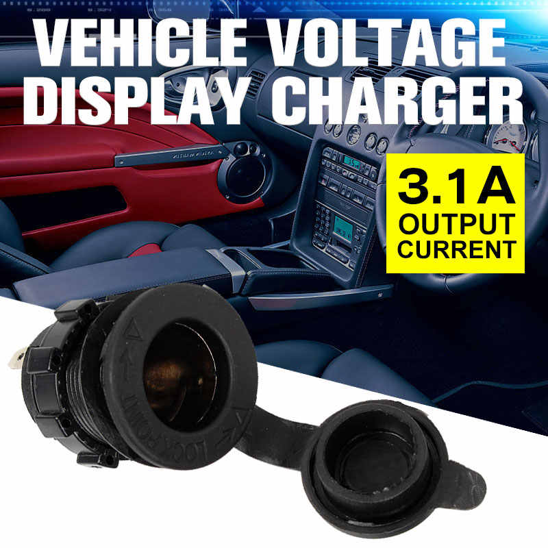12V 24V Cigarette Lighter Boat Accessories Power Socket Motorbike Car Motorcycle Power Cord Plug Tractor Car Charger Wires Black