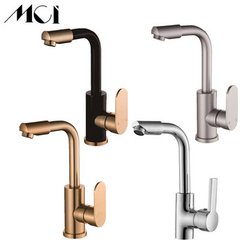Hot And Cold Water Kitchen Faucet Space Aluminum Single Handle Water Mixer Sink Tap 360 Degree Rotation Torneira Cozinha Mci