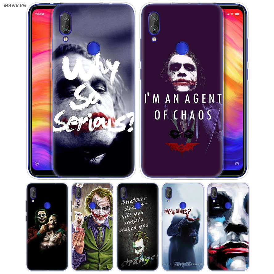 Funda Batman Joker The Dark Knight estampada para Xiaomi mi Play 8 A2 6X carcasa trasera para Redmi 6 6A Note 7 6 5 4 4X Lite Pro
